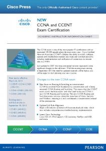 NEW CCNA and CCENT Exam Certification - Pearson