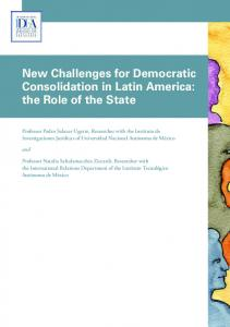 New Challenges for Democratic Consolidation ... - International IDEA