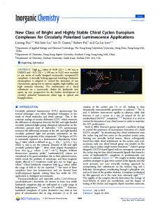 New Class of Bright and Highly Stable Chiral ... - ACS Publications