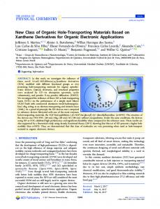 New Class of Organic Hole-Transporting Materials ... - ACS Publications