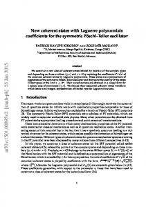 New coherent states with Laguerre polynomials coefficients for the ...