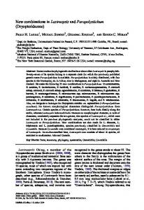 New combinations inLastreopsisandParapolystichum ... - Springer Link