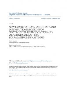new combinations, synonymy and distribution ... - Semantic Scholar