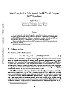 New Complexiton Solutions of the KdV and Coupled KdV ... - arXiv