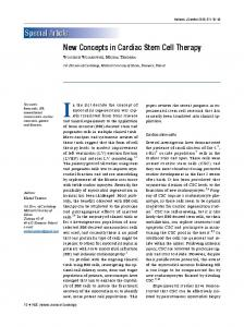 New Concepts in Cardiac Stem Cell Therapy - Semantic Scholar