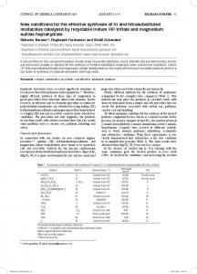 New conditions for the effective synthesis of tri and