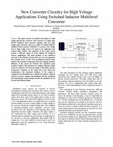 New Converter Circuitry for High Voltage Applications ... - IEEE Xplore
