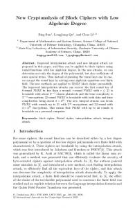 New Cryptanalysis of Block Ciphers with Low ... - Springer Link