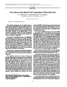 New Data on the Blood Cell Composition of Bearded Seal