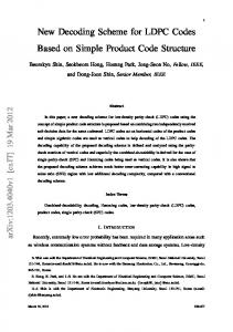 New Decoding Scheme for LDPC Codes Based on Simple ... - arXiv