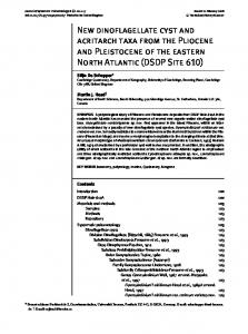New dinoflagellate cyst and acritarch taxa from the Pliocene and ...