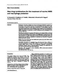New drug combinations for the treatment of ... - Wiley Online Library