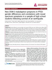 New DSM-5 maladaptive symptoms in PTSD: gender differences and ...