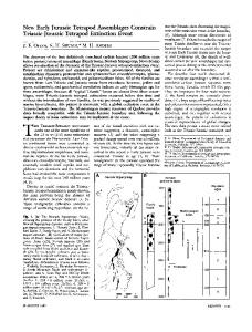 New Early Jurassic Tetrapod Assemblages Constrain Triassic ...