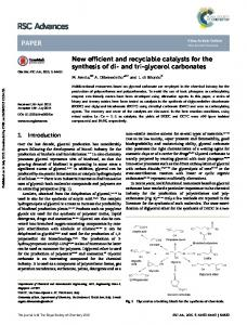 New efficient and recyclable catalysts for the ...