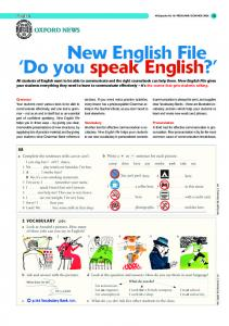 New English File 'Do you speak English?'