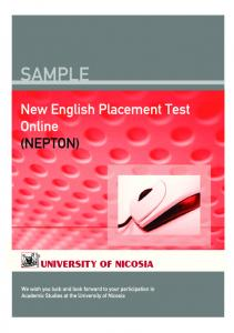 New English Placement Test - vassos306