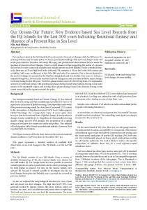 New Evidence-based Sea Level Records from the Fiji Islands for the ...