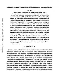 New exact solution of Dirac-Coulomb equation with exact boundary ...