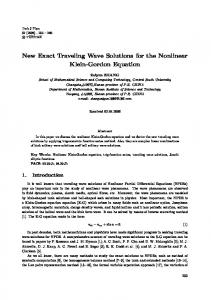 New Exact Traveling Wave Solutions for the Nonlinear Klein-Gordon ...