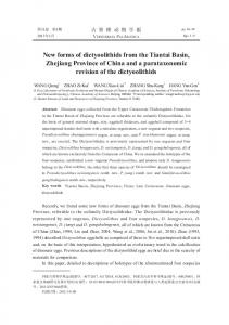 New forms of dictyoolithids from the Tiantai Basin, Zhejiang Province ...