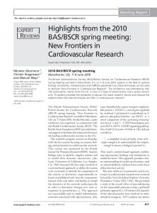 New Frontiers in Cardiovascular Research