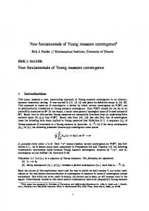 New fundamentals of Young measure convergence New ...