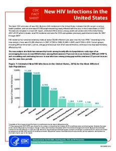 New HIV Infections in the United States - Centers for Disease ...