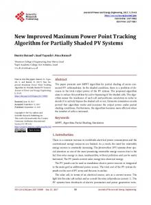 New Improved Maximum Power Point Tracking ...