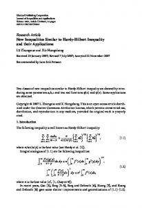 New Inequalities Similar to Hardy-Hilbert Inequality ...