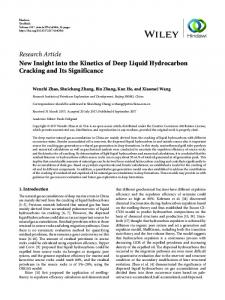 New Insight into the Kinetics of Deep Liquid Hydrocarbon Cracking ...