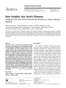 New Insights Into Aortic Diseases - AORTA Journal