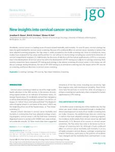 New insights into cervical cancer screening - BioMedSearch