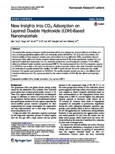 New Insights into CO2 Adsorption on Layered Double Hydroxide (LDH