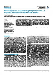 New insights into congenital diaphragmatic hernia ... - BioMedSearch