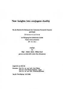 New insights into conjugate duality - Qucosa