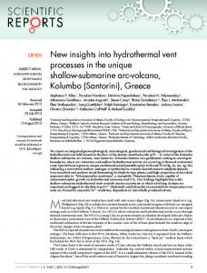 New insights into hydrothermal vent processes in the ... - BioMedSearch