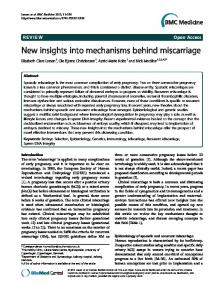 New insights into mechanisms behind miscarriage