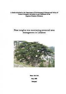 New insights into monitoring protected area