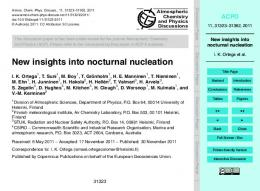 New insights into nocturnal nucleation