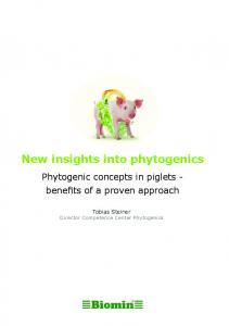 New insights into phytogenics