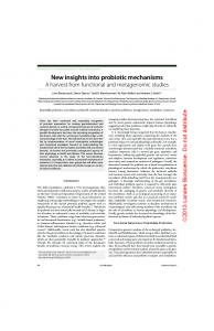 New insights into probiotic mechanisms