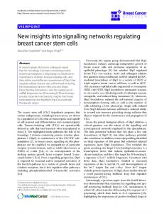 New insights into signalling networks regulating breast cancer stem ...
