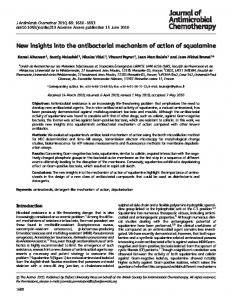 New insights into the antibacterial mechanism of action of squalamine