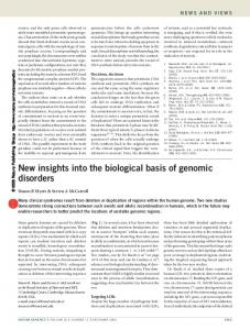 New insights into the biological basis of genomic disorders - Nature