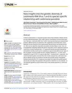 New insights into the genetic diversity of Leishmania RNA ... - PLOS