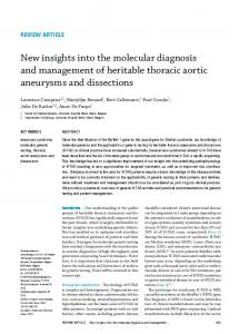 New insights into the molecular diagnosis and