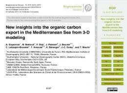 New insights into the organic carbon export in the ...