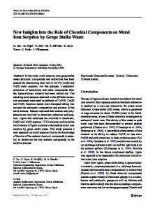 New Insights into the Role of Chemical Components ...