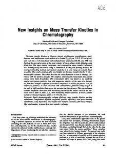 New insights on mass transfer kinetics in ... - Wiley Online Library